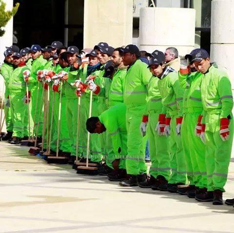 ترجيح اللون الاخضر لزي عمال الوطن